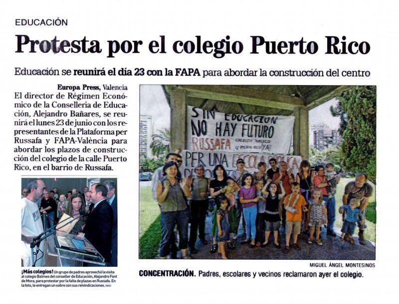 Recorte de prensa del 12 Junio 2008 En la Conselleria