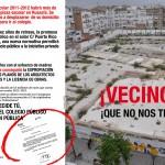 Cartel convocando a vecinos al referéndum por la gestión pública del colegio