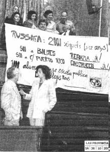 Pancarta Pleno 25 Octubre 2002
