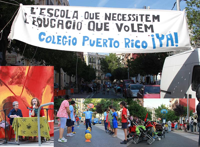 Jornada reivindicativa en calle Puerto Rico