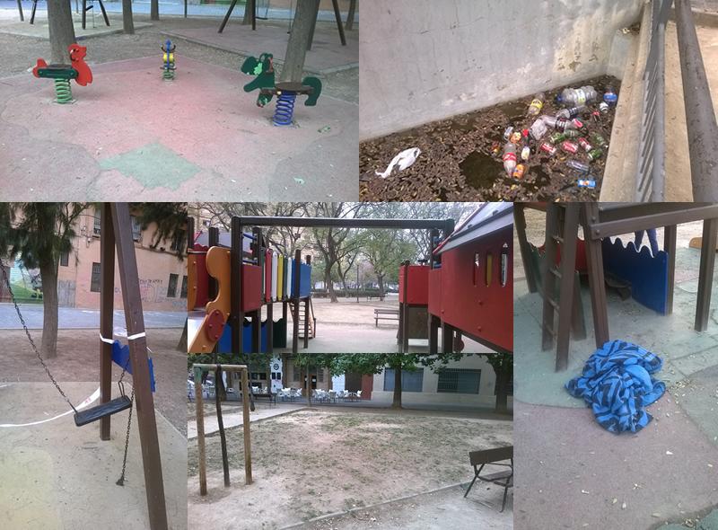 Fotos deterioro parque