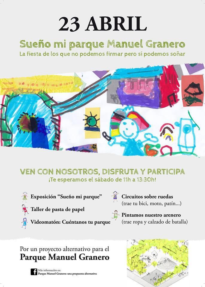 Fiesta 23 abril. Sueño mi parque Manuel Granero