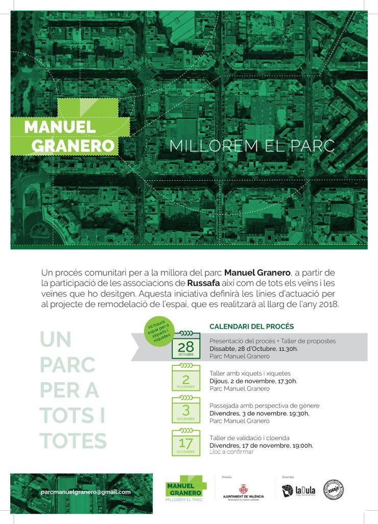 REFORMA DEL PARQUE MANUEL GRANERO