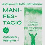 Manifestació #ValènciaNoestàEnVenda