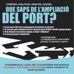 Fotos xerrada ampliació del port i conseqüències